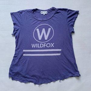 Wildfox Distressed Oversized T-shirt Tee USA M
